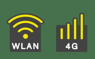 Icon 4G und WLAN